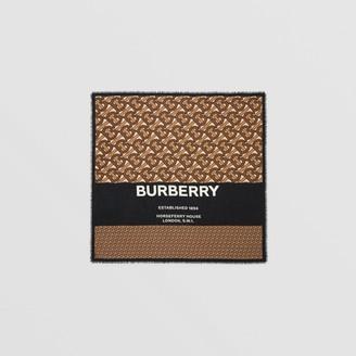 Burberry Monogram Print Cashmere Large Square Scarf
