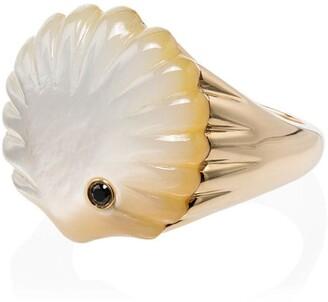 Yvonne Léon 9kt Gold Pearl Shell Diamond Ring
