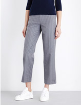 Mo&Co. Pinstriped straight gabardine trousers
