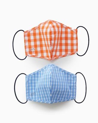 Southern Tide 2-Pack Light Blue and Orange Masks