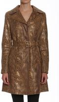 Members Only Faux Python Trench