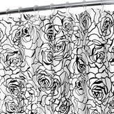 Park B Smith Park B. Smith Cabbage Rose Watershed Shower Curtain