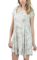 Bow & Arrow Silver Gray Tie-Dye Shift Dress