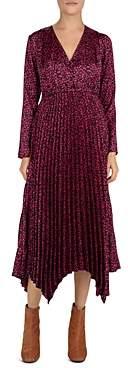 The Kooples Camelia Rose Printed & Pleated Midi Dress