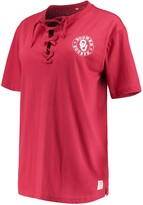 Unbranded Women's Pressbox Crimson Oklahoma Sooners Sherry Lace-Up T-Shirt
