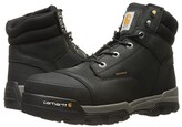 Carhartt 6 Ground Force Waterproof Composite Toe Work Boot (Black Oil Tanned Leather) Men's Work Lace-up Boots
