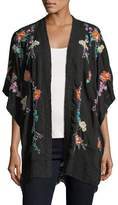 Johnny Was Classic Calla Embroidered Georgette Kimono, Plus Size
