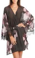 Women's Midnight Bakery Flower Print Kimono Robe