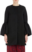 Martin Grant Women's Ruffled-Cuff Cotton-Blend Coat