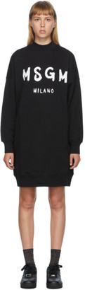 MSGM Black Artist Logo Sweater Dress