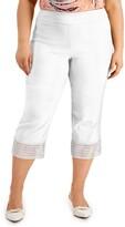 Thumbnail for your product : JM Collection Plus Size Crochet-Hem Capri Pants, Created for Macy's