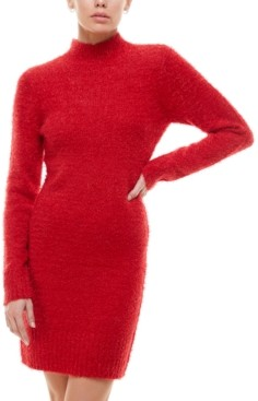 Planet Gold Juniors' Fuzzy Bodycon Sweater Dress