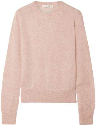 The Row Minco Brushed Cashmere And Silk-blend Sweater
