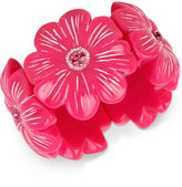 Betsey Johnson Crystal Pink Flower Stretch Bracelet