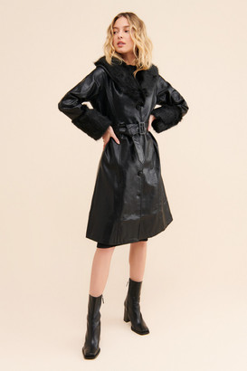 Petit Moments Solange Faux Leather Coat