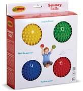 Edushape 4-Inch Sensory Ball-4 Pack, Red, Yellow, Blue, Green