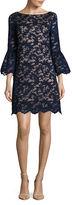 Eliza J Lace Bell-Sleeve Shift Dress