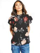 AX Paris Floral Printed Frill Sleeve Top
