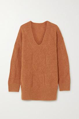 MUNTHE Lamia Oversized Cable-knit Sweater - Camel