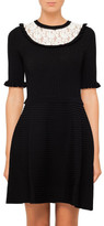 RED Valentino Knit Dress With Contrast Lace