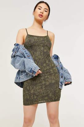Ardene Snakeskin Bodycon Mini Dress