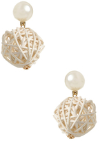 Amrita Singh Straw Ball Statement Earrings