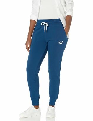 True Religion Women's Tall Size Vintage Mid Rise Slim fit Jogger Sweatpant