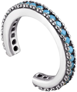 Seol + Gold Sterling Silver Turquoise Small Cz Cuff Earring