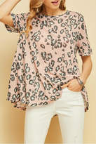 Entro Flared Leopard Top