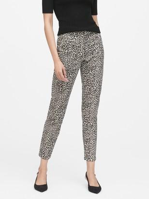 Banana Republic Petite Modern Sloan Skinny-Fit Metallic Leopard Pant