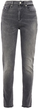 Rag & Bone Nina Frayed Faded High-rise Skinny Jeans