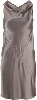 Rick Owens Cowl-Neck Mini Dress