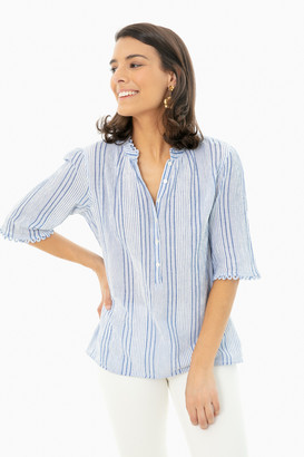 Apiece Apart Blue Adriatric Mini Stripe Alta Top