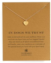 Dogeared 'In Dogs We Trust' Pendant Necklace