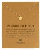 Dogeared Women's 'In Dogs We Trust' Pendant Necklace