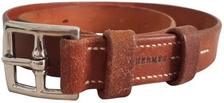 Hermes Etriviere Brown Leather Belts