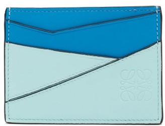 Loewe Puzzle Leather Cardholder - Green Multi