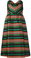 DELPOZO striped dress - women - Silk/Polyester/Viscose - 38