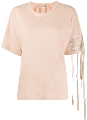 No.21 ribbon bow detail T-shirt