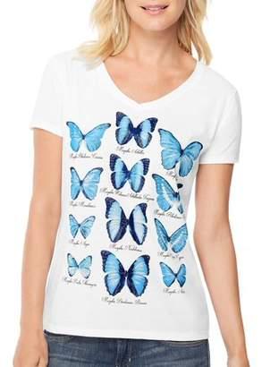 Hanes Women's Short-Sleeve V-Neck Graphic T-Shirt