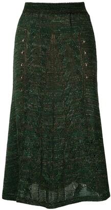 Cecilia Prado knitted Marie midi skirt