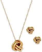 Macy's Love Knot Jewelry Set in 10k Gold