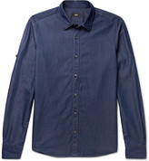 HUGO BOSS Reid Slim-Fit Cotton-Chambray Shirt