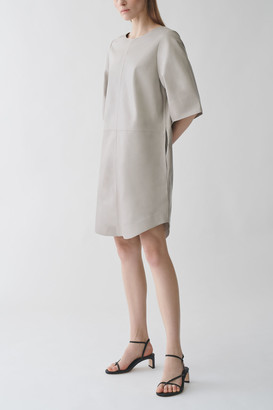 Cos A-Line Leather Dress