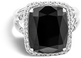 John Hardy Sterling Silver Batu Classic Chain Ring with Black Onyx and Diamonds