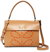 Orla Kiely Laced Stem Leather Cicely Shoulder Bag