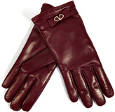 Valentino Leather Gloves with Bow