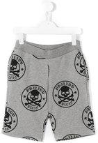 Philipp Plein skull print shorts - kids - Cotton - 8 yrs