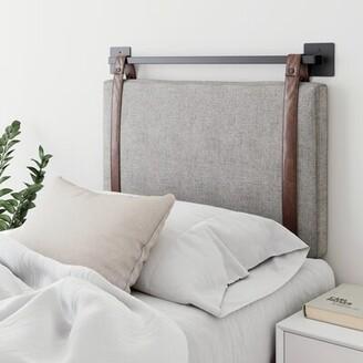 17 Stories Kroeker Upholstered Panel Headboard Size: Twin, Color: Brown