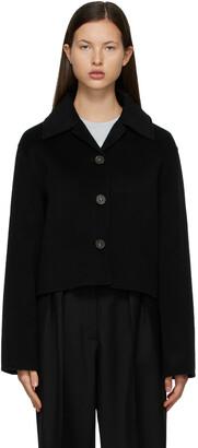 Acne Studios Black Wool Cropped Jacket